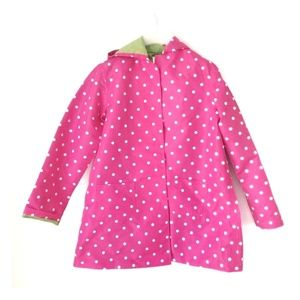 3/$25 - Gymboree polka dot Raincoat Sz L 10/12